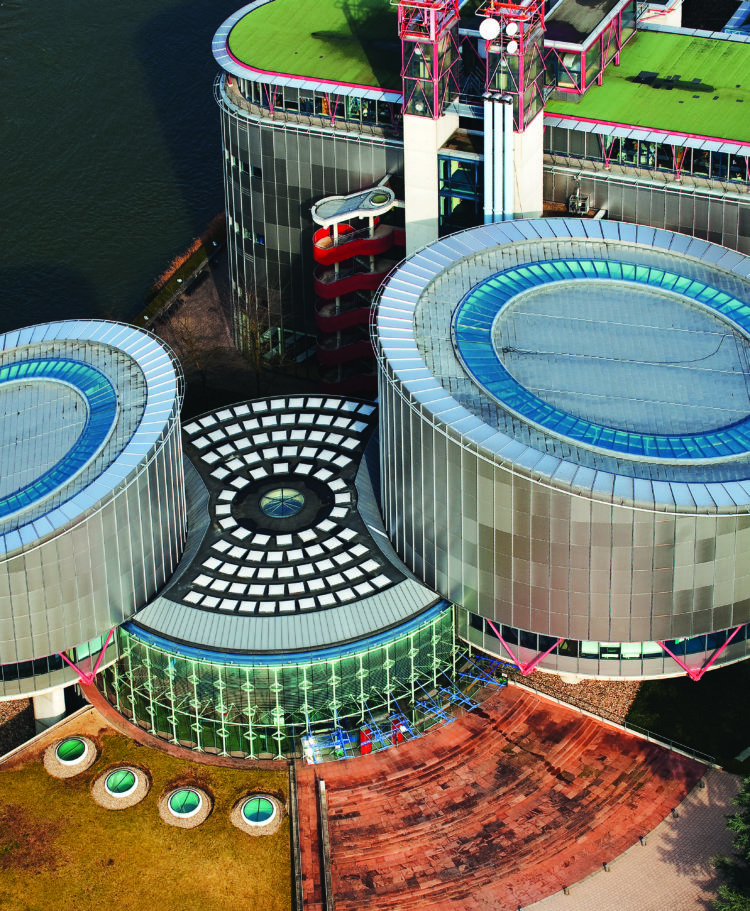 La Cour Européenne des Droits de l'Homme à Strasbourg.