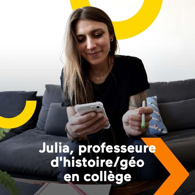 Julia professeur d'histoire géographie à Strasbourg