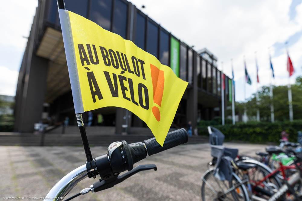 drapeau Au boulot à vélo à Strasbourg