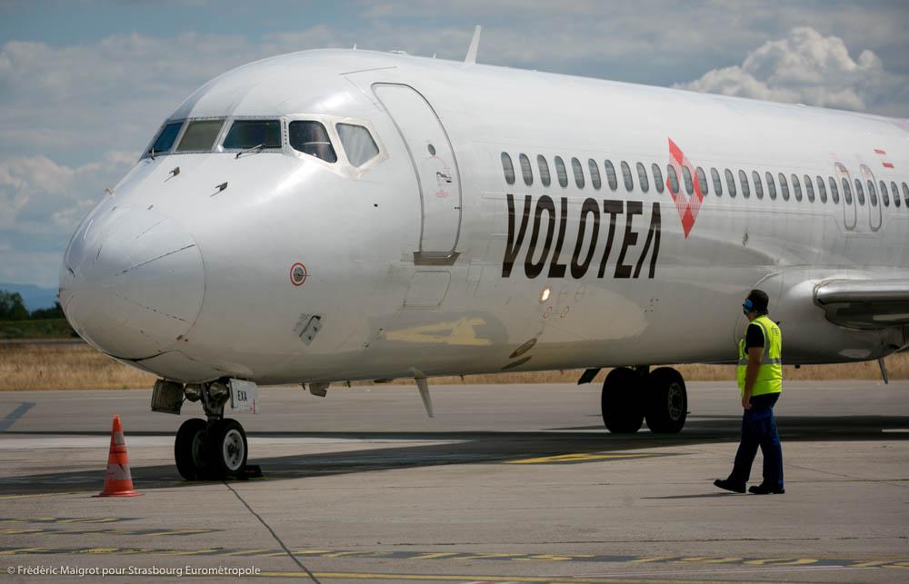 Avion Volotea resté au sol pendant le confinement