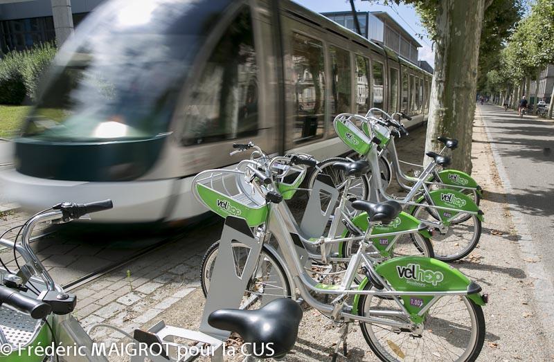 Station de location de vélo en libre service à Strasbourg