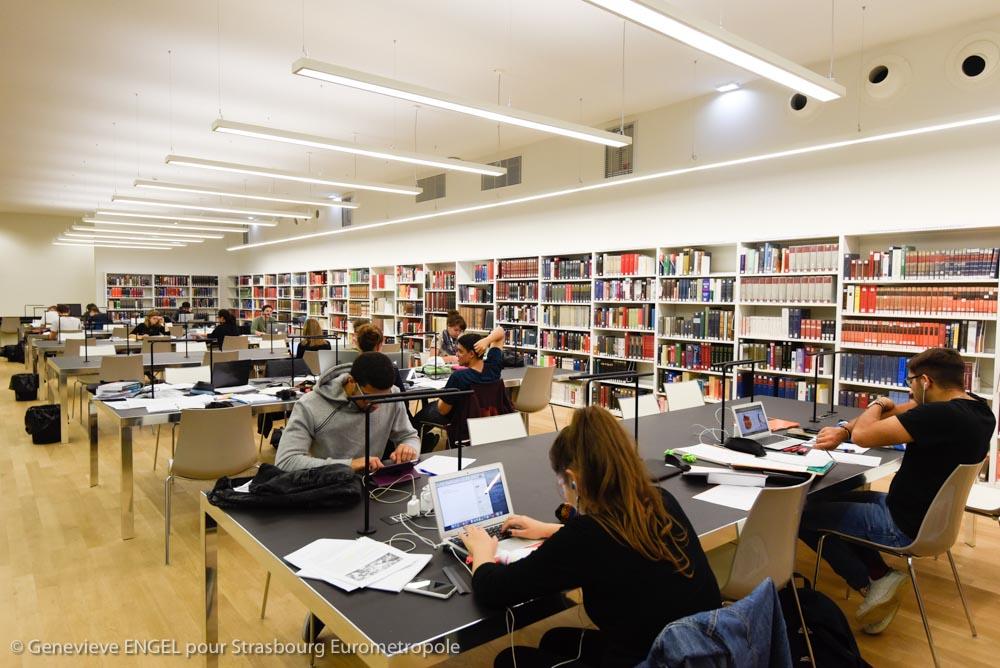 La bibliothèque Nationale Universitaire (BNU) de Strasbourg