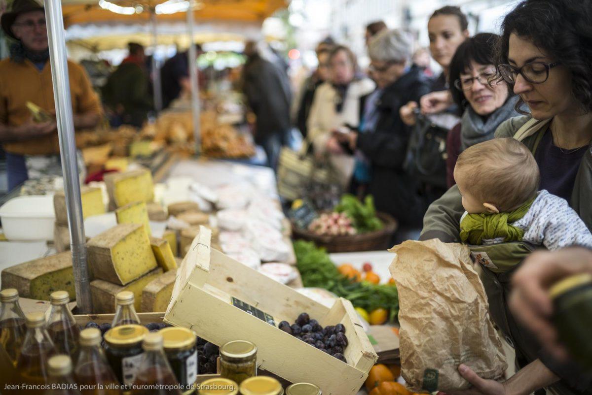 Le marché des producteurs à Strasbourg