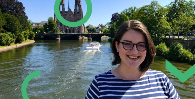 Stéphanie a choisit Strasbourg pour ses études