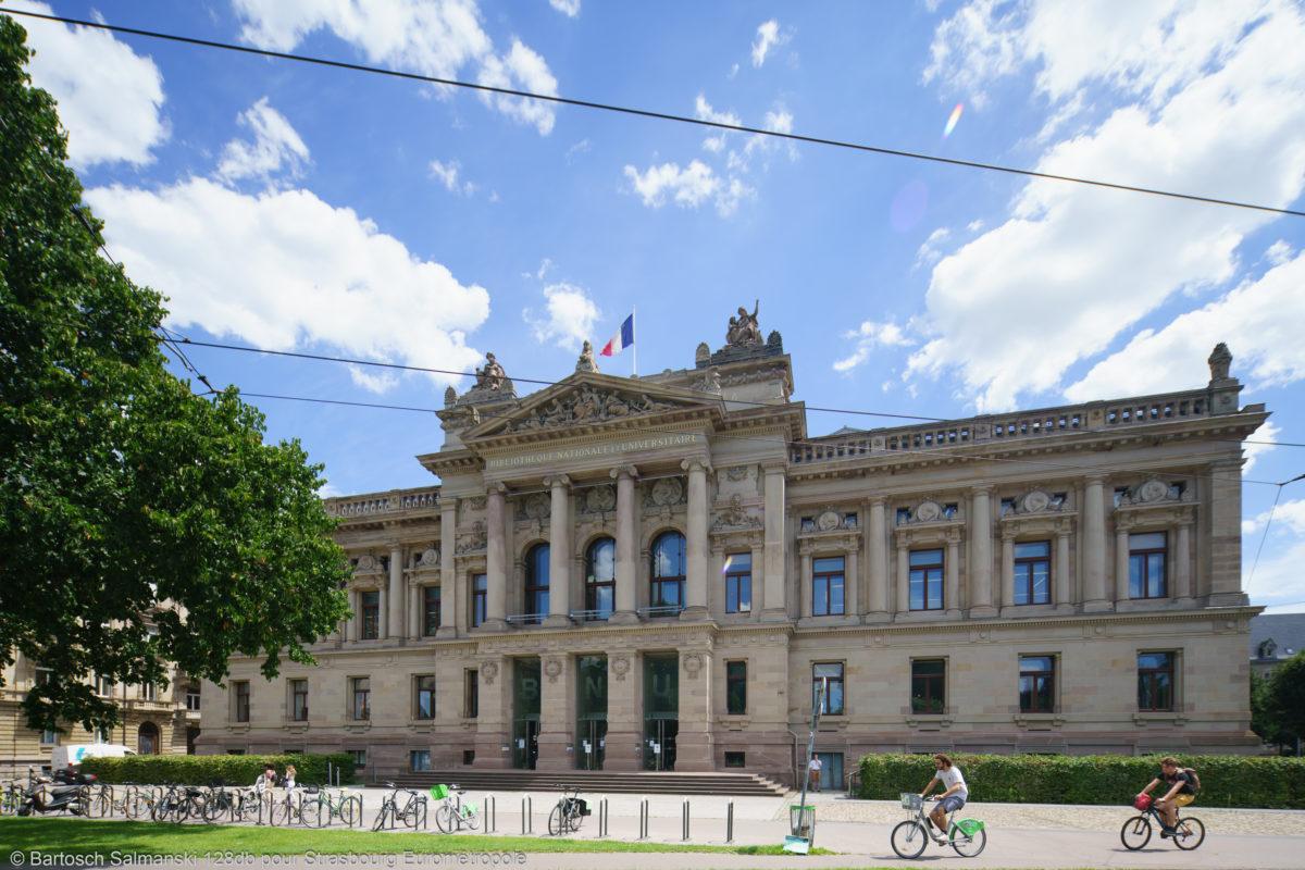étudier à Strasbourg à la Bibliothèque Nationale Universitaire, patrimoine mondial de l'Unesco