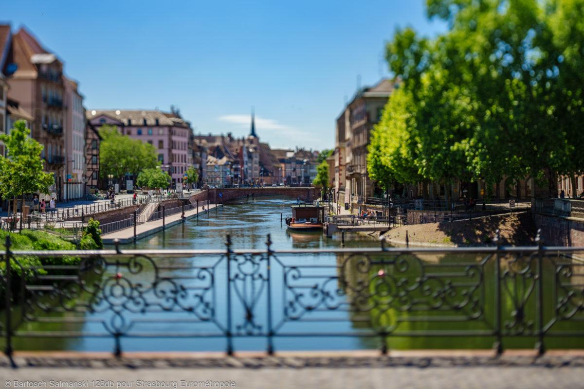 Une balade en bateau sur l'ill ensoleillé vivre à strasbourg