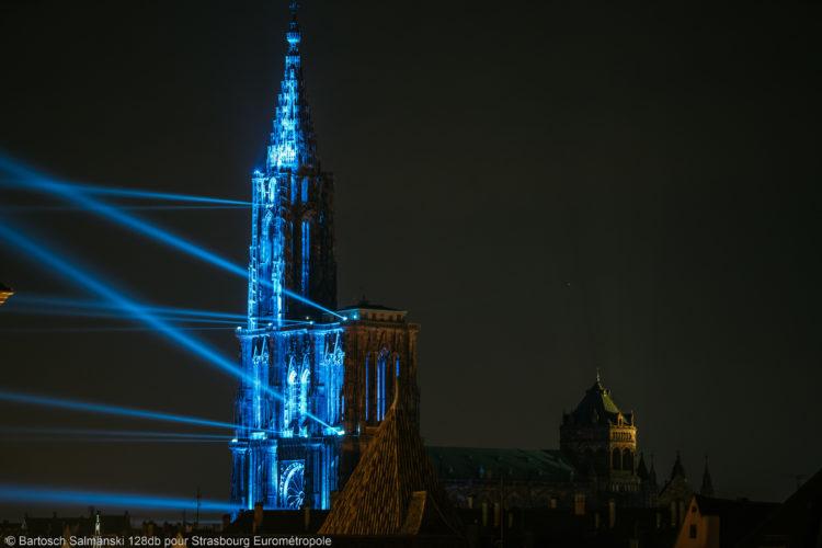 La Cathédrale de Strasbourg pendant le spectacle Pause en été