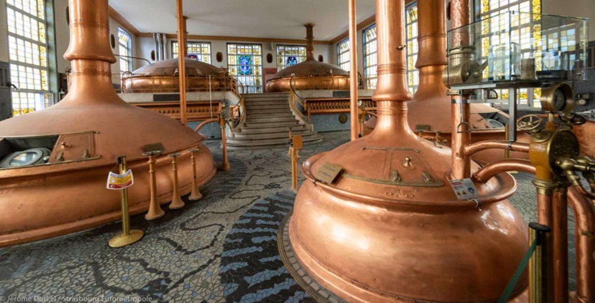 Les futs de bière d'une brasserie artisanale à Strasbourg