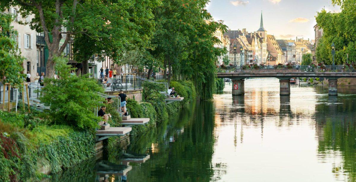 Vue de Strasbourg et ses canaux