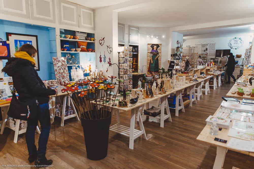 Boutique de Noël éphémère à Strasbourg