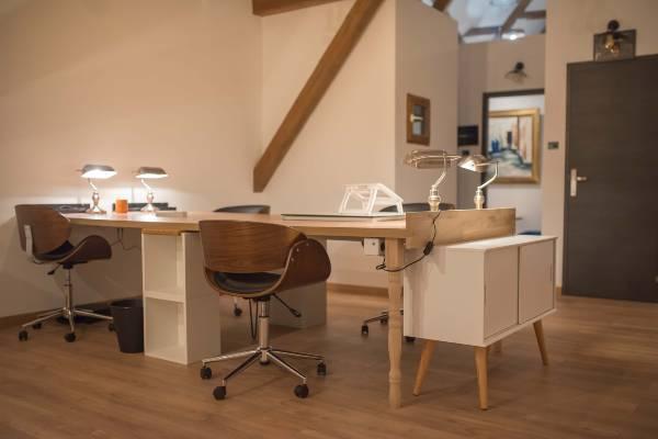 Bureaux dans un espace de co-working
