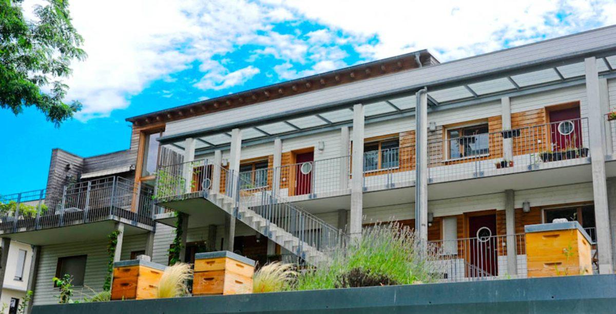 Immeuble sur le principe de l'habitat participatif à Strasbourg