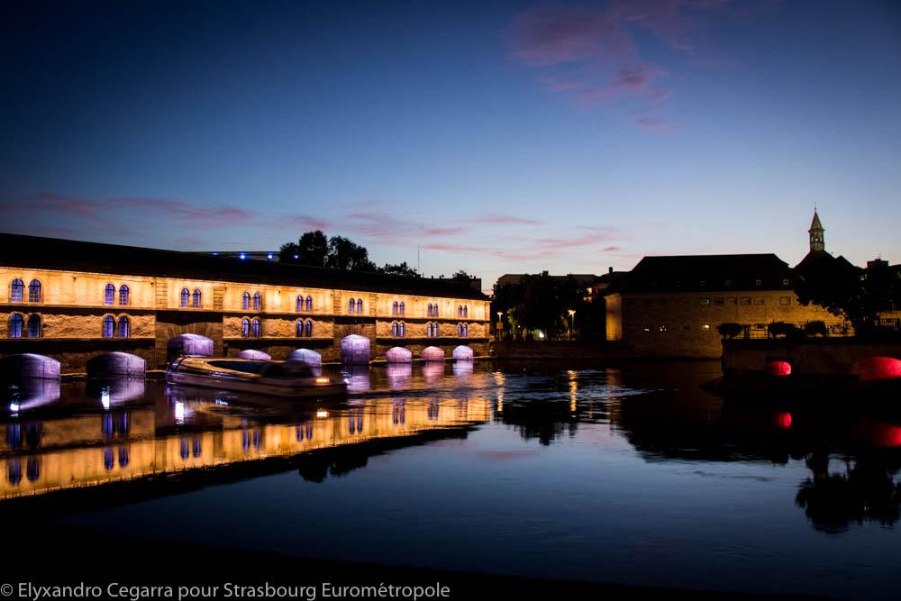 Vue sur les Ponts couverts à Strasbourg